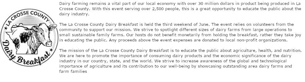 La Crosse Country Dairy Breakfast Logo